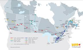 Amtrak Route Map Usa by Canrailpass System Entire Via Network Rail Plus Australia
