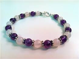 bracelet quartz rose images Amethyst rose quartz gemstone bracelet jpg