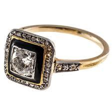 gold art rings images Art deco black enamel diamond yellow gold platinum ring at 1stdibs jpg