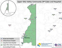 Ohio Area Code Map Wv Upper Ohio Valley Providers U2013 Medicaring Communities