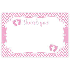 baby shower thank you cards pink girl baby shower thank you note cards and hill