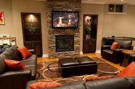 stone fireplace pictures brown fabric sofa green brown ivory comfy