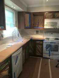 Repainted Kitchen Cabinets Plum Prettypainted Kitchen Cabinets Budget Kitchen Makeover Part