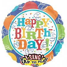 singing balloon delivery streamers happy birthday singing balloon delivered inflated in uk