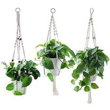 amazon com yotako hanging planter 3 pattern indoor macrame