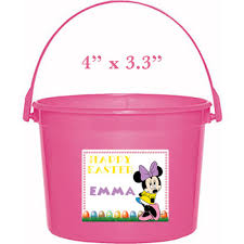 Minnie Mouse Easter Stickers Minnie Mouse Easter Basket Sticker Waterproof And Personalized
