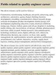 Quality Resume Examples Top 8 Quality Engineer Resume Samples