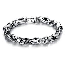 antique sterling silver bracelet images Latest old look 925 sterling silver men 39 s antique silver bracelet jpg
