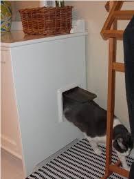 Interior Pet Door For Cats Flaren Stealth Cat Litter Box Ikea Hackers Ikea Hackers