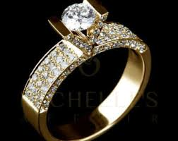 2 carat gold engagement ring ring 2 55 ct solitaire engagement ring with side