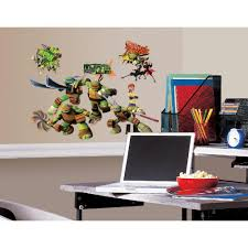 10 in x 18 in teenage mutant ninja turtles 30 piece peel and teenage mutant ninja turtles 30 piece peel and stick wall decals rmk2246scs the home depot