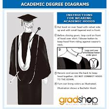 academic hoods shiny black bachelor academic cap gown tassel gradshop