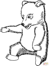 brown bear cub coloring page free printable coloring pages