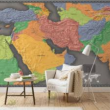 map mural shop shinehome large middle east map mural living
