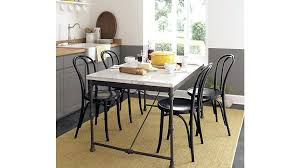 Crate And Barrel Carrara Marble Table French Kitchen Table Crate - Kitchen table reviews