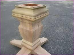 Pedestal Bases For Dining Tables Dining Table Pedestal Base Kit Table Bases Wood Wonderful
