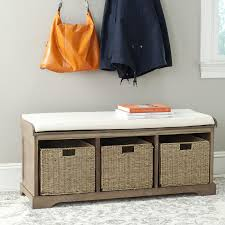 shop safavieh lonan contemporary gray white storage bench at lowes com