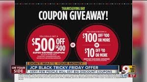 jcpenney has a 500 black friday discount really wcpo