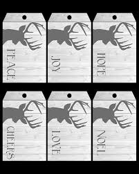 free printable deer gift tags the cottage market