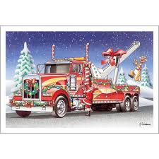 Tow Truck Business Cards Towing Christmas Cards Paul Oxman Publishing