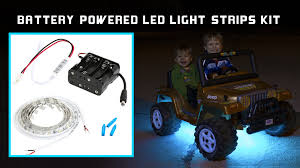 battery powered led light strips kit youtube