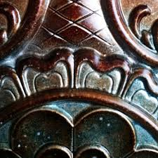tin ceiling tile 3d relief ancient copper patina faux finishes