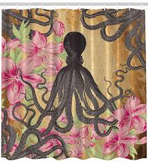 Octopus Home Amazon Com Kraken Octopus Roses Leaves Tentacles Octopi Vintage