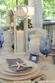 themed tablescapes navy and white great for a nautical themed table setting