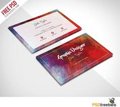 Photoshop Template Business Card Free Abstract Business Card Psd Template Psdfreebies Com