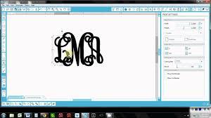 Initial Monogram Fonts Vine Monogram Tutorial Youtube