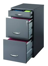 Filing Cabinets For The Home Amazon Com Hirsh Soho 3 Drawer File Cabinet In Charcoal Home