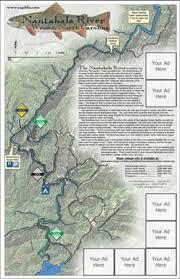 nantahala river map trout fishing in carolina
