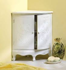 White Corner Cabinet With Doors 20 Corner Cabinets To Make A Clutter Free Bathroom Space Home