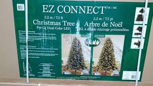 pre lit dual color led ez connect 7 5 u0027 christmas tree costco