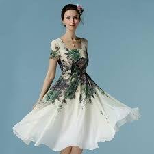 floral knee length dresses online india