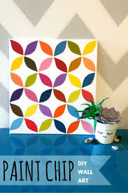 Paint Chips by Paint Chips Wall Art Diy U2013 Throne U0026 Thimble