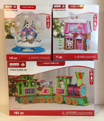 lot of 3 creatology 3d foam christmas structures train sweet shop