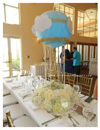 Blue And Gold Baby Shower Decorations by Baby Shower Guest Table Centerpieces Were Designed From My Rental