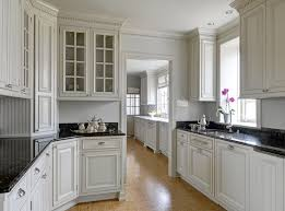 gray kitchen cabinets with white crown molding butler pantry ideas transitional kitchen