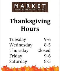 market at the fareway thanksgiving hours chestnut hill