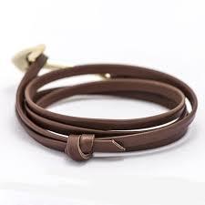 bracelet for fashion jewelry multilayer gold alloy anchor bracelet men leather
