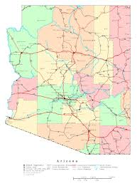 Large Map Of United States by Large Detailed Administrative Map Of Arizona State With Roads