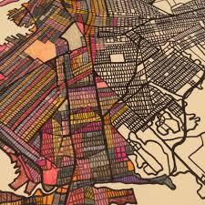 Brooklyn Ny Map City Neighborhood U2013 Modern City Map Print Of Brooklyn Ny