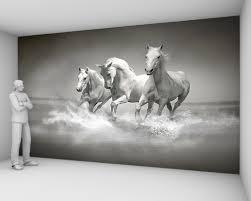 papier peint chevaux pour chambre papier peint animaux edition sur toile murale yeda design