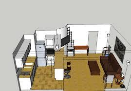 plan cuisine ouverte sur salon plan salon cuisine ouverte cuisine en image