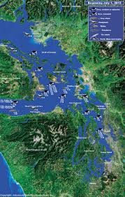 Satellite Map Of Washington State by Orca Network Sightings Map
