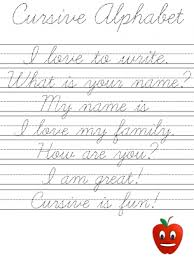 best ideas of cursive writing sentences worksheets also sample