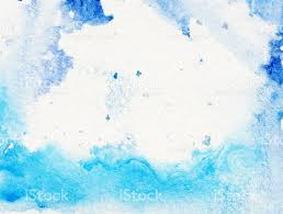 border of hues of blue paint with white background stock photo