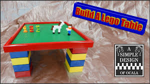 how to build a lego table youtube