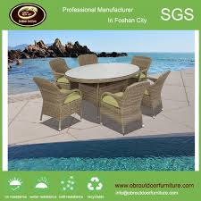 Patio Furniture Rattan Outdoor Rattan Garden Furniture Dining Table Set Obr 00007